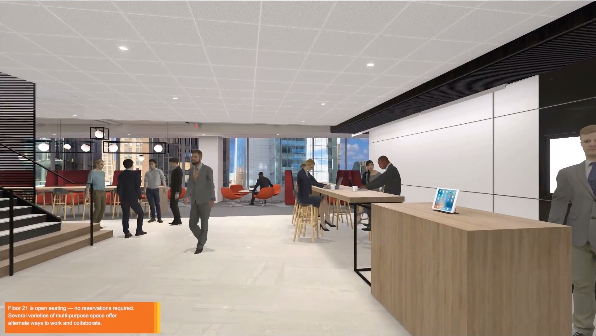 Virtual Reality office interior walk-through.