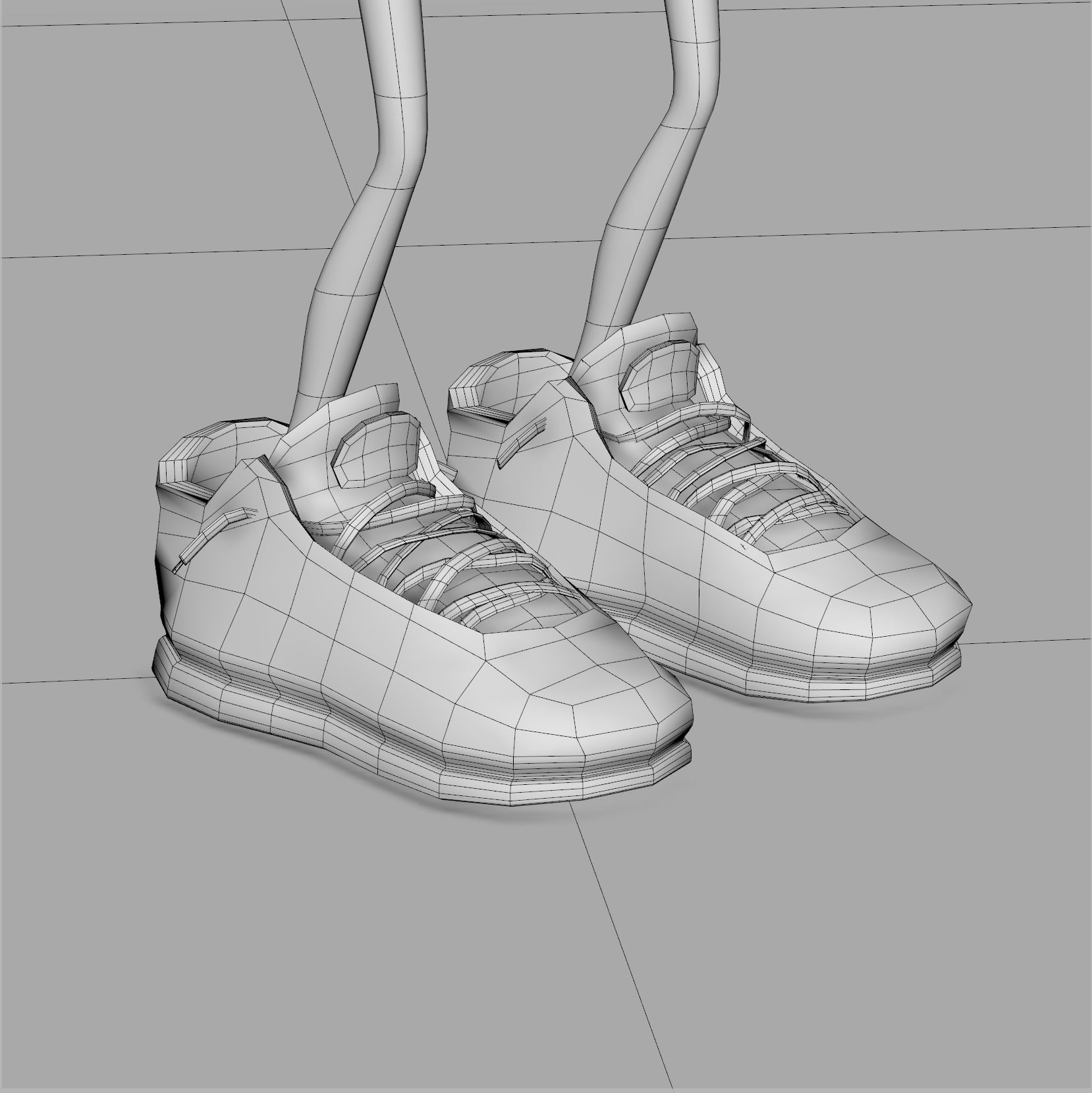 Low Polygon Sneakers